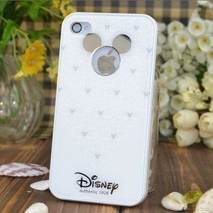 เคสไอโฟน4/4s (Case Iphone 4/4s) เคสไอโฟน มิกกี้เม้าส์ กรอบขาว (หูมิกกี้เม้าส์เป็นกระจกค่ะ)