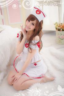 ns011 ชุดนางพยาบาล ชุดเซ็กซี่นางพยาบาล แขนตุ๊กตา มี 4 ชิ้น น่ารักและเซ็กซี่ค่ะ
