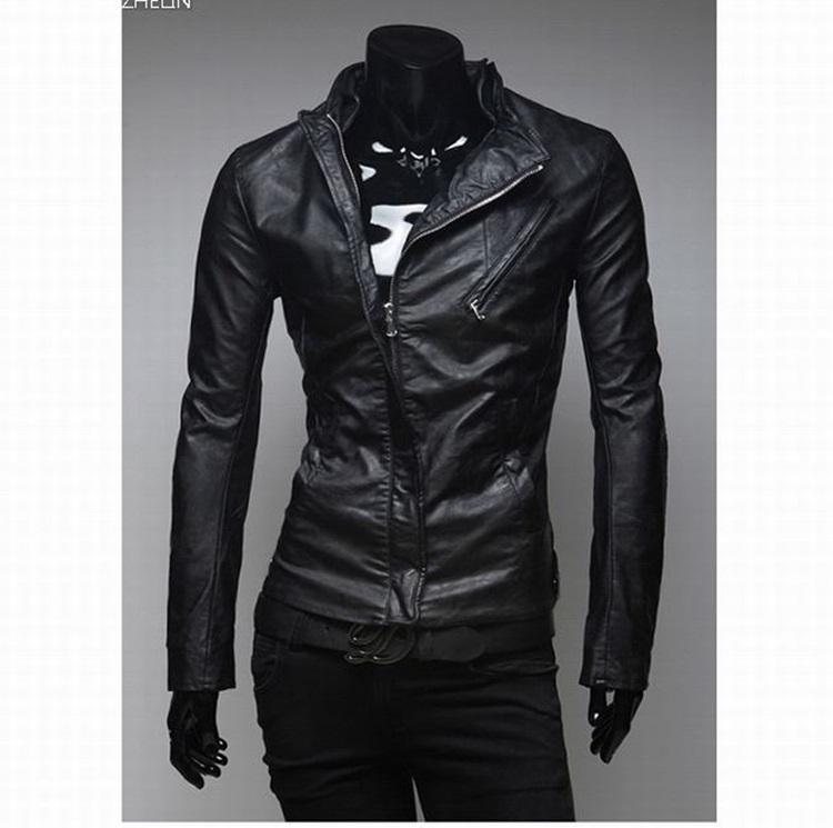 Pre-Order เสื้อแจ๊คเก็ตหนัง เสื้อแจ๊คเก็ต Biker หนัง Faux คุณภาพดี ตัดเข้ารูป สีดำ