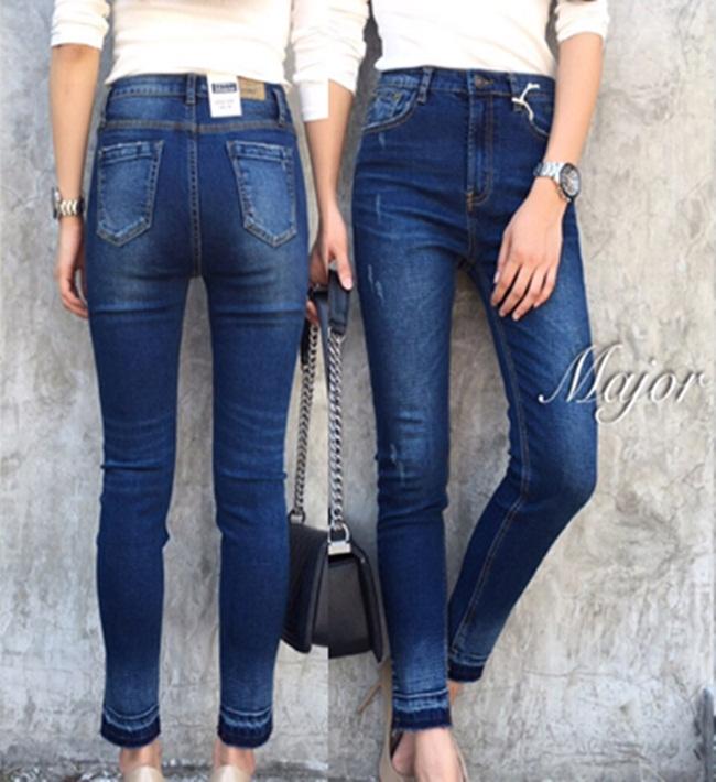 กางเกงแฟชั่น ZARA style denim กางเกงยีนส์ขายาว ทรงสวย