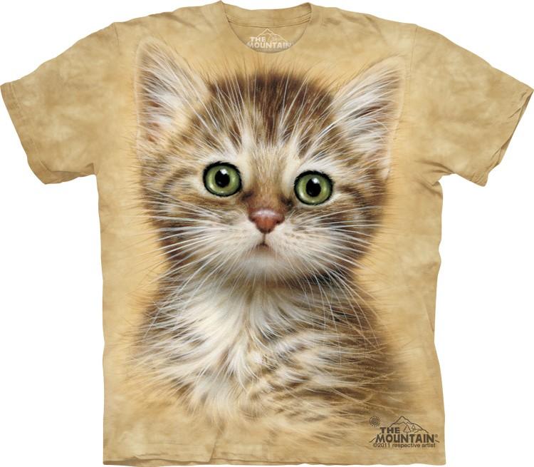Pre.เสื้อยืดพิมพ์ลาย3D The Mountain T-shirt : Brown Striped Kitten