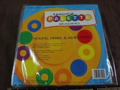 learning palette reading nouns,verbs & adjectives