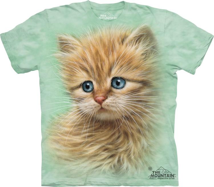 Pre.เสื้อยืดพิมพ์ลาย3D The Mountain T-shirt : Kitten Portrait