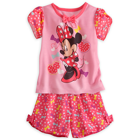 z Minnie mouse shorts sleep set for girls Size4