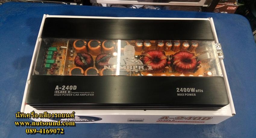 เพาเวอร์แอมป์รถยนต์ คลาสดี 2400 W ยี้ห้อ NUMBER 1