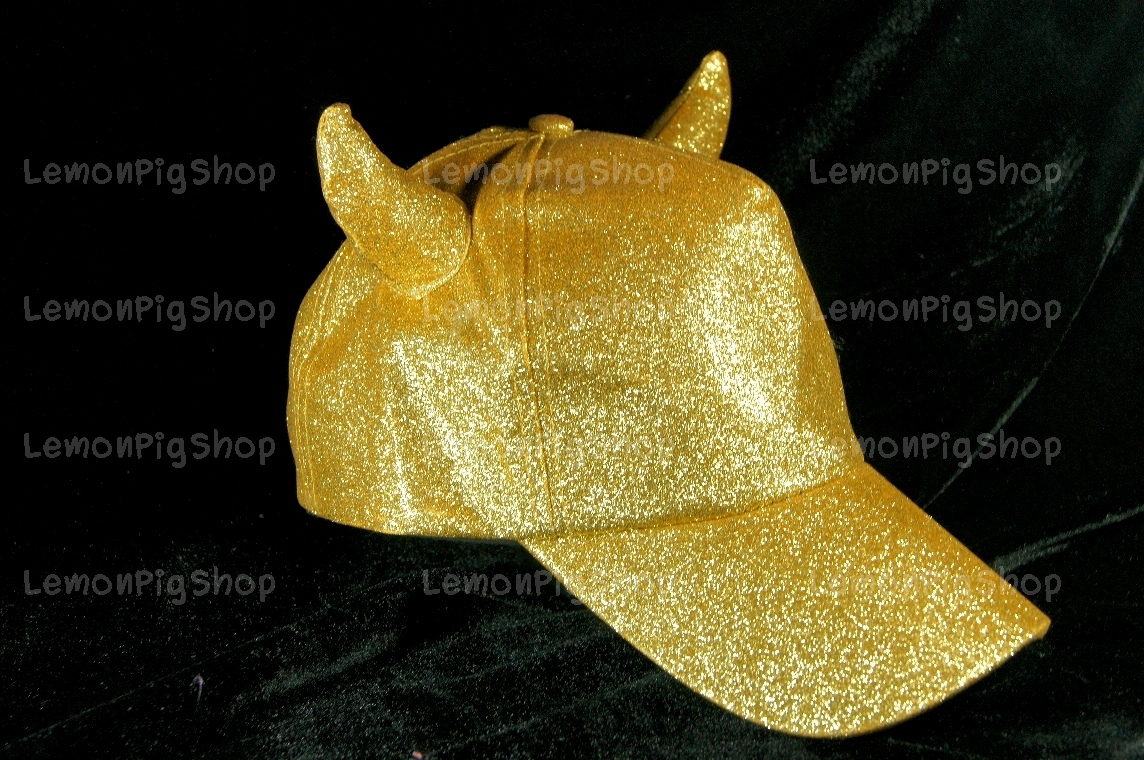 หมวกกากเพชร กลิตเตอร์ Glitter สีทอง Devil