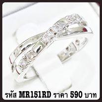 แหวนเพชร CZ รหัส MR151RD size 55