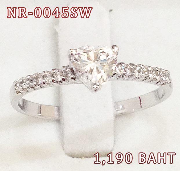 แหวนเพชร CZ รหัส NR0045SW size 53