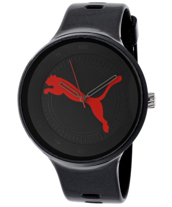 นาฬิกา Puma Women's Take Pole Position Black Dial Black Silicone PUMA Watch PU910871004