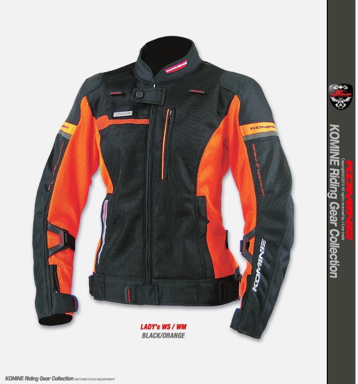 เสื้อการ์ด Komine JK-044 (ผู้หญิง) #สีดำล้วน/สีดำเขียวนีออน/สีดำส้ม