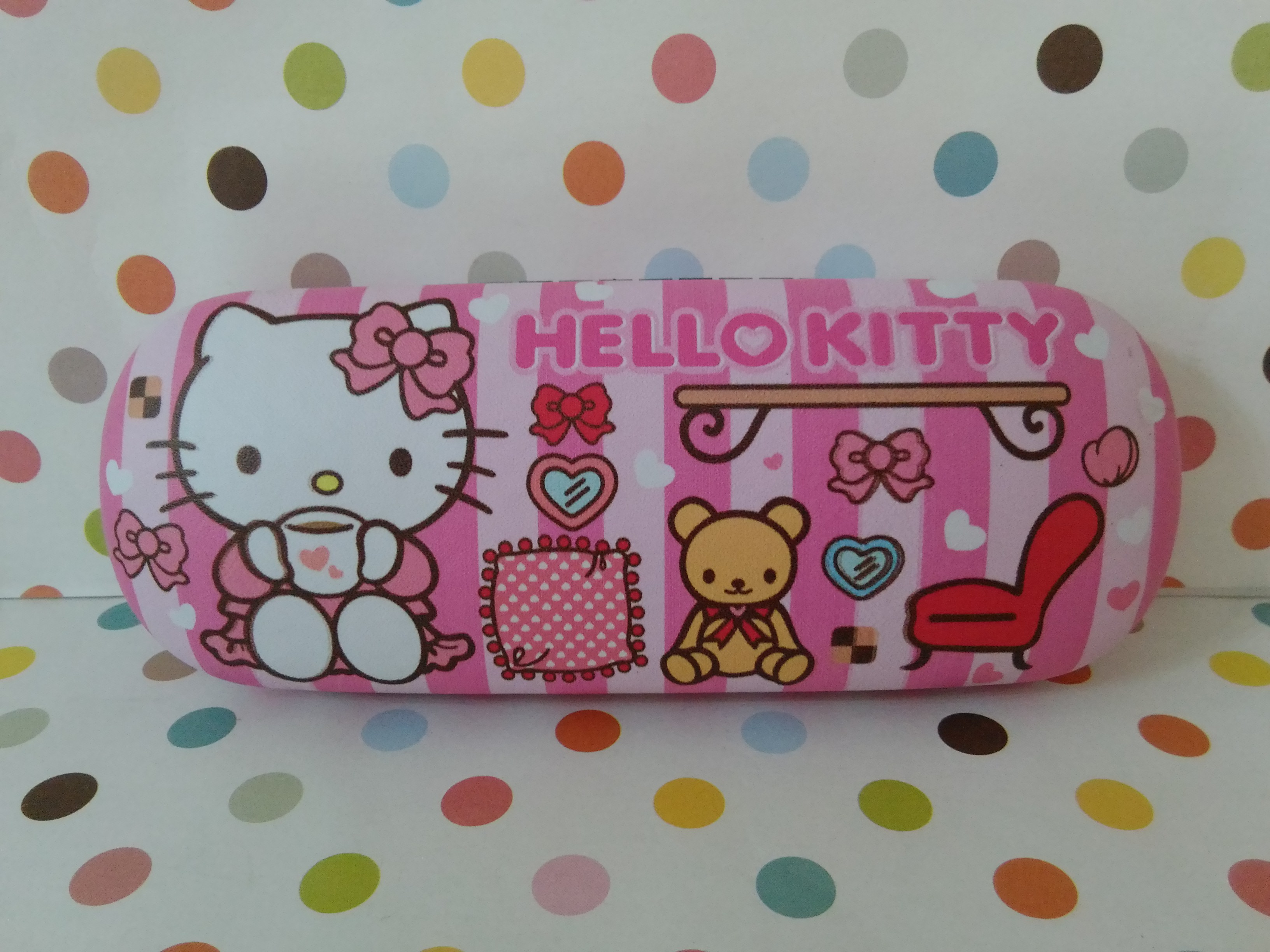 กล่องใส่แว่นตา ฮัลโหลคิตตี้ Hello Kitty ลายฮัลโหลคิตตี้โบว์