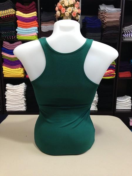 เสื้อกล้ามหลังสปอร์ต สีเขียวใบไม้