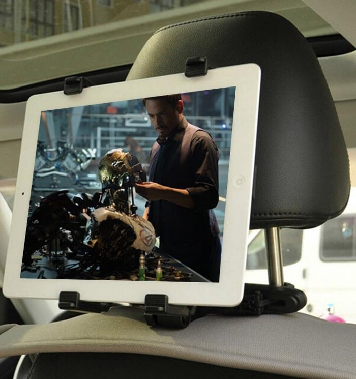 008 อุปกรณ์ช่วยจับยืด Tablet กับที่นั่งเพื่อเป็นทีวี สำหรับผู้โดยสารตอนหลัง
