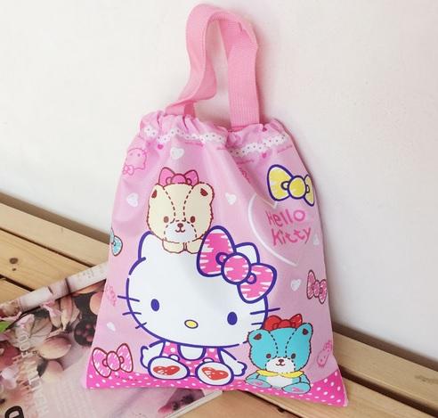 กระเป๋าถุงหูรูด ฮัลโหลคิตตี้ Hello kitty#1 ขนาดยาว 29.5 ซม. * สูง 32.5 ซม.
