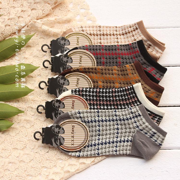 S564**พร้อมส่ง** (ปลีก+ส่ง) ถุงเท้าแฟชั่น ข้อตาตุ่ม คละ5 สี เนื้อดี งานนำเข้า มี 10 คู่ต่อแพ็ค