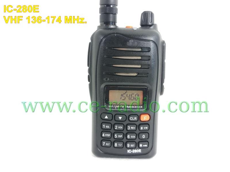 IC-280E วิทยุสื่อสารเครื่องดำ VHF 136-174 MHz. 8W. ฟังวิทยุFMได้