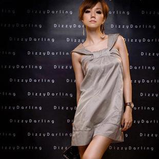 DRESS ชุดเดรสแฟชั่น ใส่ทำงาน ใส่เที่ยว ผ้าซาติน สีเทาอมเขียว สม็อคอกด้านหลัง น่ารัก สามารถใส่ออกงานได้ สวยมากๆ จ้า thaishoponline (พร้อมส่ง)