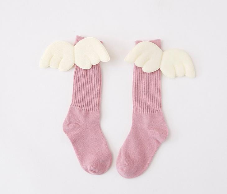 ถุงเท้าแฟนซี#แต่งปีกนางฟ้า สีชมพู