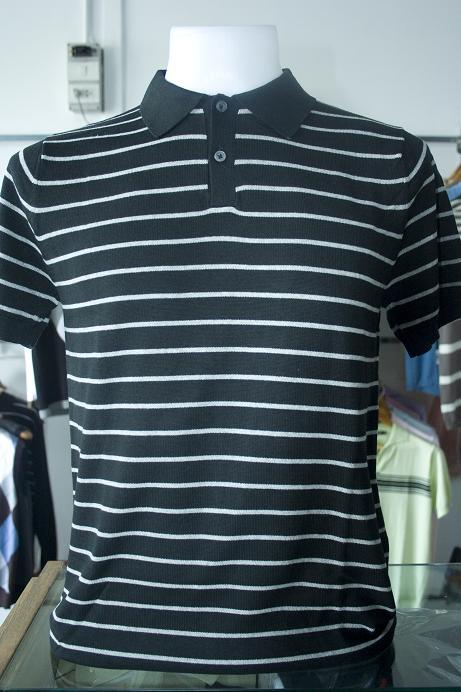เสื้อยืดผู้ชาย แขนสั้น Cotton เนื้อดี ถักไหมพรม งานคุณภาพ รหัส MC0737 Size L