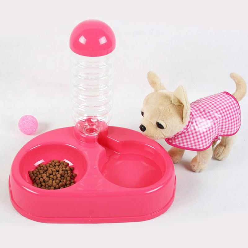 ที่ให้อาหารและน้ำอัตโนมัติ สำหรับสุนัขและแมว ถาดใส่อาหาร ที่ให้อาหารสุนัข ที่ให้อาหารแมว ชามอาหารสุนัข เครื่องให้อาหารสุนัข เครื่องให้อาหารแมว (สีชมพู) P-895
