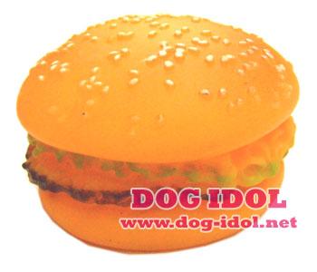 **พร้อมส่ง** ของเล่นยางปี๊บ..ปี๊บ : Hamburger
