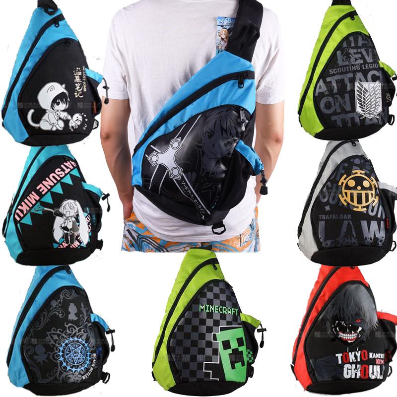 กระเป๋าสะพายรวมอนิเมะ (มีให้เลือก 10 แบบ)