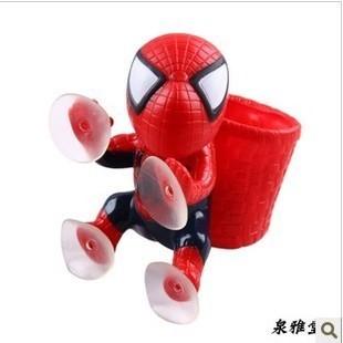 อุปกรณ์ตกแต่งภายในรถ spiderman สีแดงติดกระจก