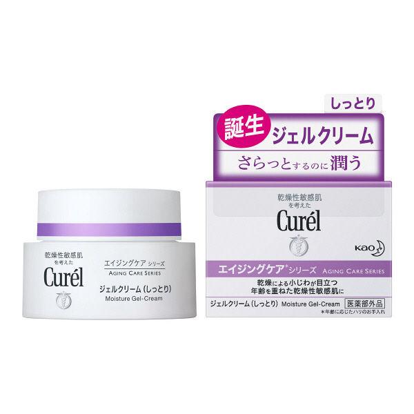 Curel Aging Care Series Moisture Cream ครีมบำรุงผิวหน้า สูตรลดริ้วรอย ครีมเจลบำรุงผิวหน้า ครีมเจลบำรุงผิวหน้า เนื้อบางเบา สำหรับผิวบอบบางแพ้ง่าย ผิวขาดเซราไมด์เป็นสาเหตุหนึ่งของผิวบอบบางแพ้ง่าย คิวเรลช่วยฟื้นบำรุง รักษาระดับเซราไมด์ในผิว เป็นเกราะปกป้องให