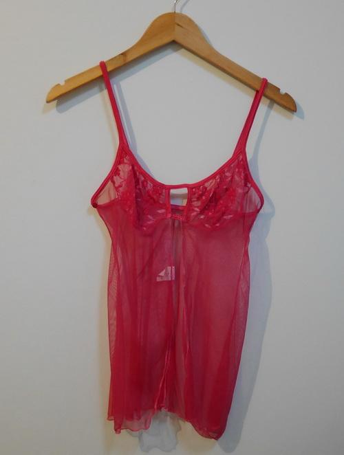 jp3531 เสื้อนอนเซ็กซี่ สีแดงซีทรู Shanah ไซค์ S รอบอก 30-32 นิ้ว