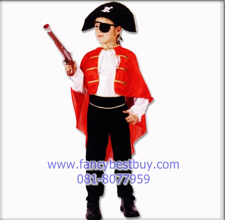 ชุดแฟนซีเด็กโจรสลัด มีขนาด XL (136-150 ซม.) สำหรับเด็กโต (รวมที่ปิดตา ไม่รวมปืน)