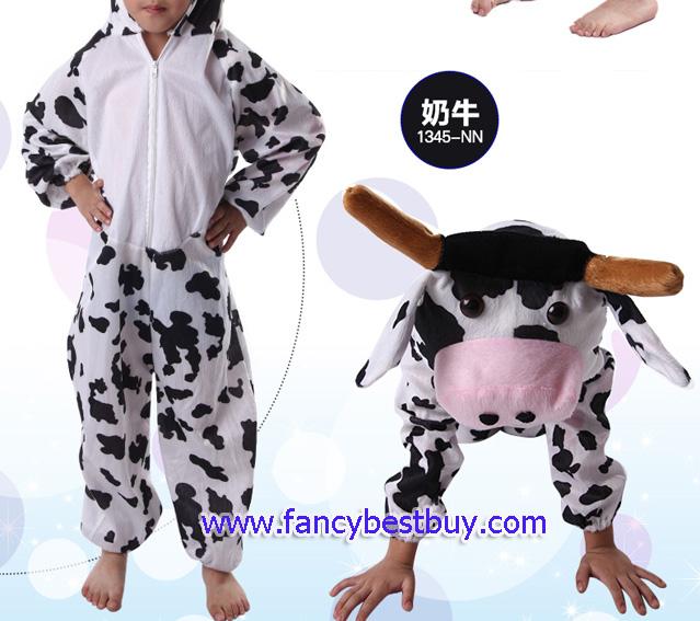 ชุดแฟนซีวัวลายจุด ชุดแฟนซีสัตว์เด็กหรือชุดมาสคอต สำหรับการแสดง ใช้ได้ทั้งเด็กชายหญิง มี ขนาด M, L, XL