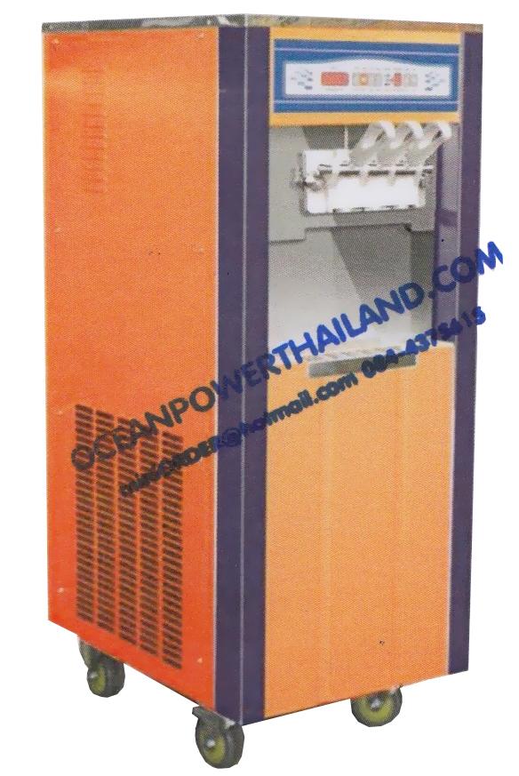 เครื่องทำไอศครีม oceanpower รุ่น OP3328D ระบบพรีคูลลิ่งและระบบมีแอร์บั๊ม