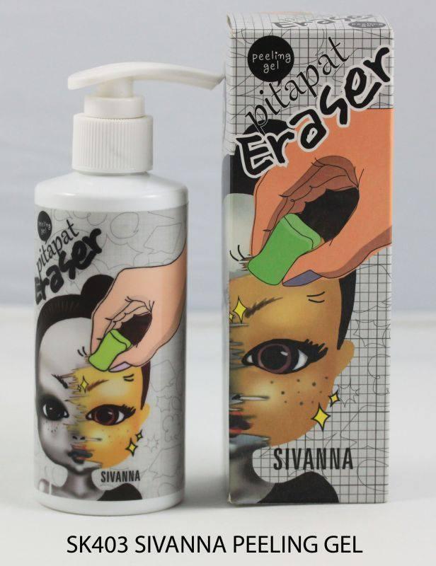 เจลขัดผลัดเซลล์ผิว Sivanna peeling gel pitapat eraser 200ml.