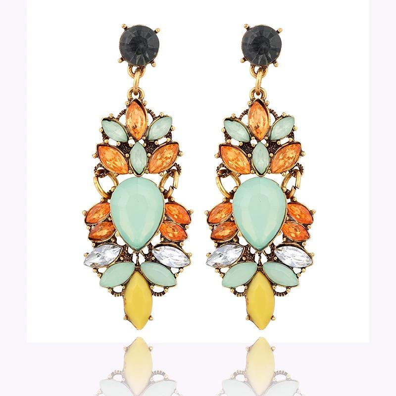 ต่างหู Multicolored Gemstone