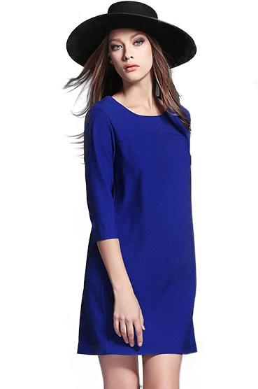 ชุดเดรส Straight Fit ( Blue )