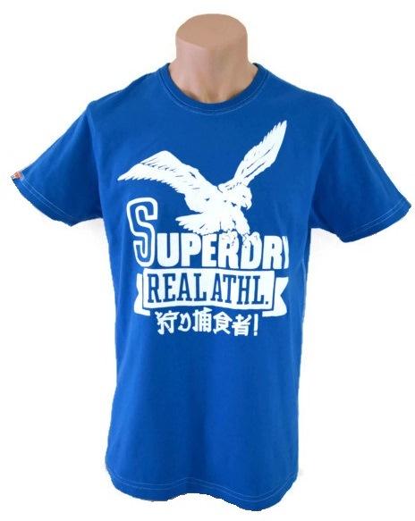 SUPERDRY T-SHIRT BLUE SIZE L