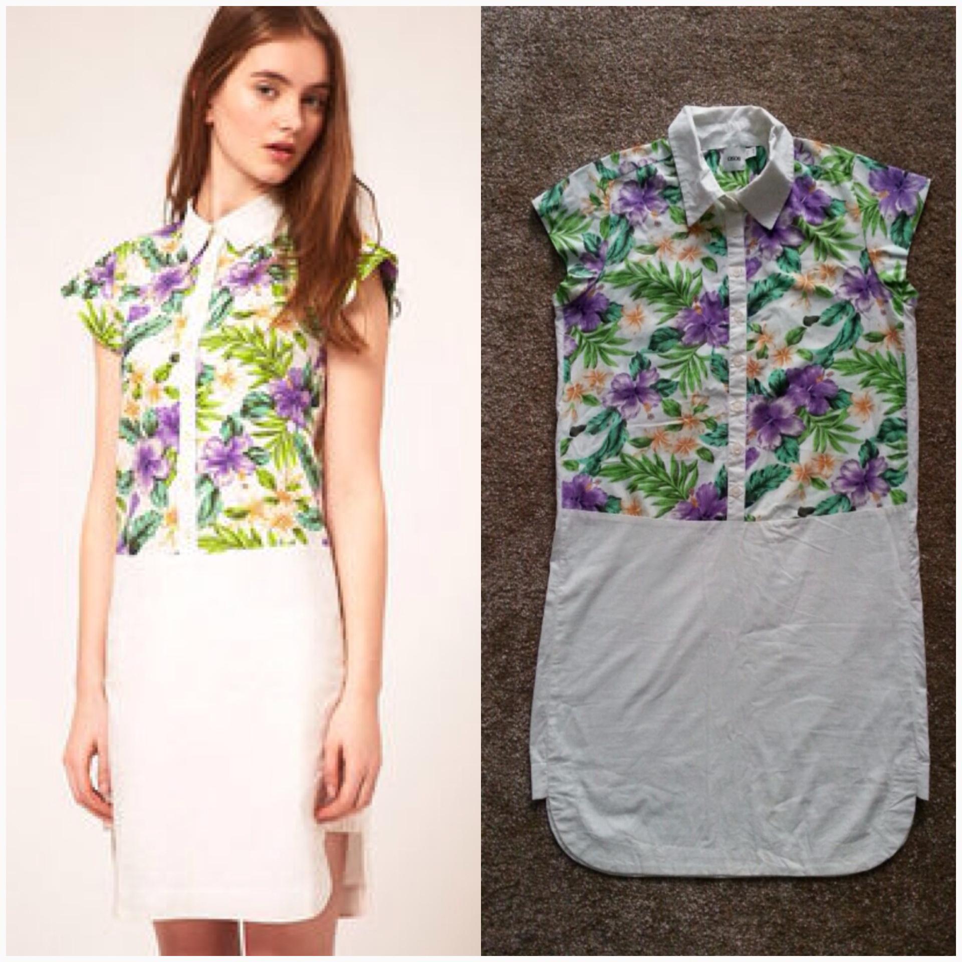 ASOS floral shirt Dress Size uk10