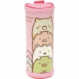 กระเป๋าดินสอทรงกระบอก Sumikko Gurashi สีชมพู