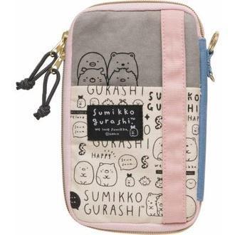 กระเป๋าใส่ของ Sumikko Gurashi สีเทา-ชมพู