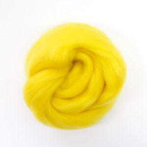 ใยขนแกะเกาหลี เกรดพรีเมี่ยม 003 สีเหลือง ขนาด 50g/ก้อน (Pre-order)