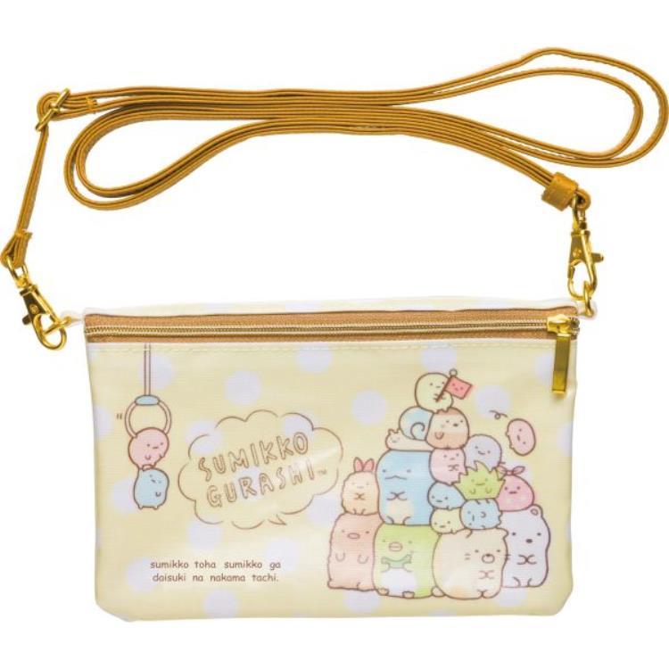 กระเป๋าสะพายใบเล็ก Sumikko Gurashi สีเหลือง