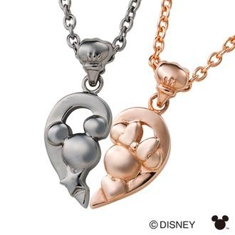 สร้อยเงินแท้ Mickey&Minnie Limited Edition เคลือบ Pink Gold (Minnie Mouse)