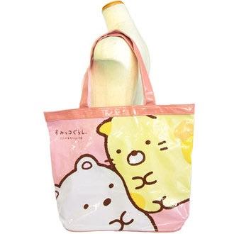 กระเป๋าสะพายขนาดใหญ่ Sumikko Gurashi สีชมพู