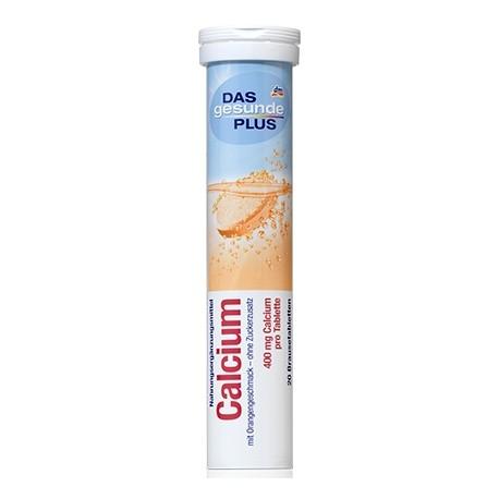 Das Gesunde Plus Calcium 400mg. แคลเซียมแบบเม็ดฟู่ มี 20 เม็ด